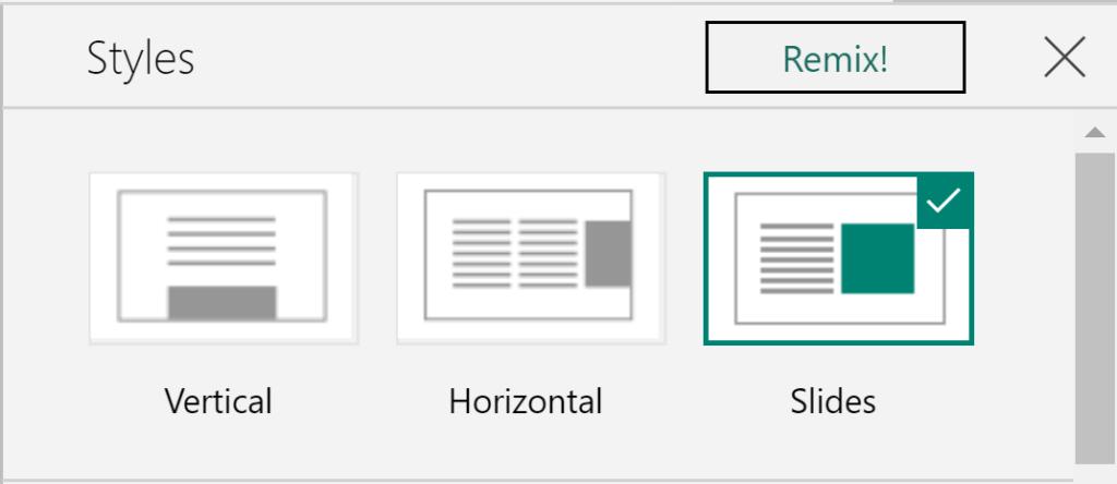 Scrolling options