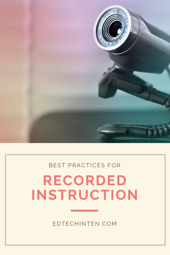 Best practices for recorded instruction image